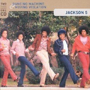 """Pochette de la réédition de 2001 de """"Dancing Machine"""" + """"Moving Violation"""""""