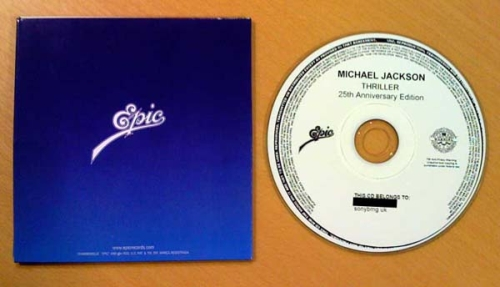 Visuel CD Promo Thriller 25